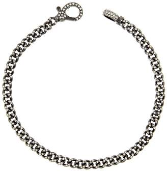 Shay Baby Pavé Diamond Link Bracelet - Black Gold