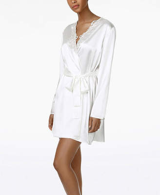 Flora Nikrooz Flora By Long Sleeve Charmeuse Robe
