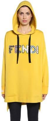 Fendi Hooded Embellished Logo Sweatshirt