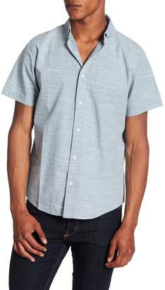 Public Opinion Short Sleeve Slub Regular Fit Woven Shirt