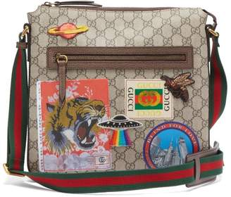Gucci Courrier Gg Supreme Messenger Bag - Mens - Brown Multi
