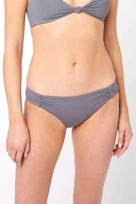 O'Neill Salt Water Dusk Shirred Hipster Bikini Bottom Taupe L
