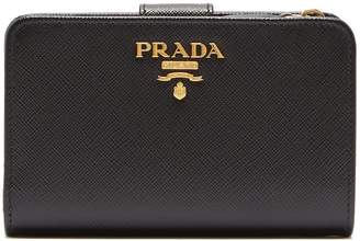Prada Zip-around saffiano-leather wallet
