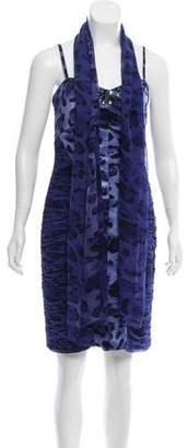 Alberto Makali Silk Animal Print Dress