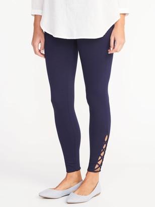 Old Navy Lattice-Hem Ankle Leggings for Women