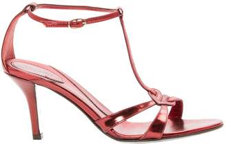 Azzaro Red Leather Sandals