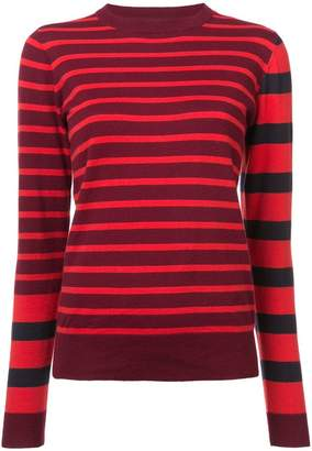 Derek Lam 10 Crosby Striped Crewneck Pullover