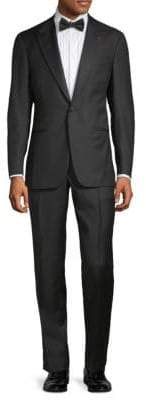Isaia Peak Lapel Wool Suit