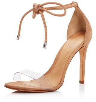 Schutz Women's Monique Clear Lace-Up High-Heel Sandals