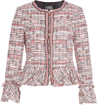 Karl Lagerfeld Boucle Jacket with Peplum