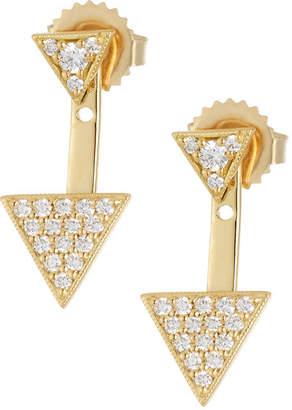 Penny Preville 18k Double Triangle Diamond Earrings