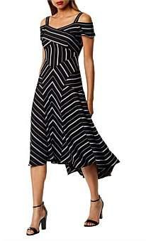 Karen Millen Cold-Shoulder Midi Dress
