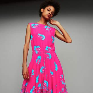 Maje Sleeveless printed long dress