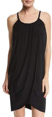 Magicsuit Draped Coverup Dress, Black, Plus Size