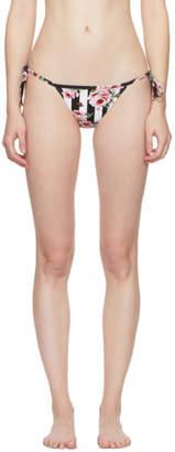 Dolce & Gabbana Multicolor Rose Bikini Bottoms