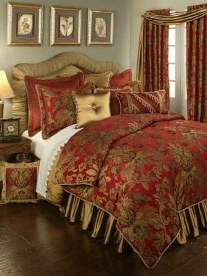 Austin Horn Classics Verona Red 4-Piece Comforter Set