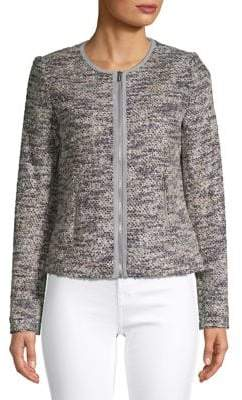 Calvin Klein Textured Long-Sleeve Jacket