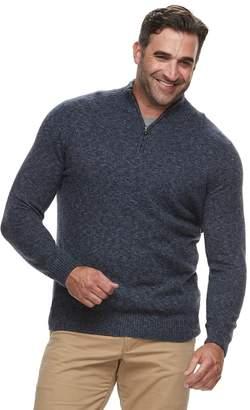 Croft & Barrow Big & Tall Classic-Fit 7GG Super Soft Quarter-Zip Pullover Sweater