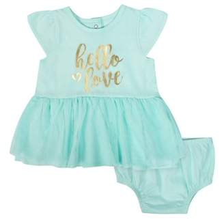 e4db242228c3 Gerber Tulle Dress and Diaper Cover Outfit Set
