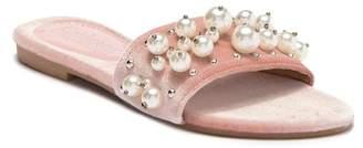 Catherine Malandrino Bera Velvet Slide Sandal