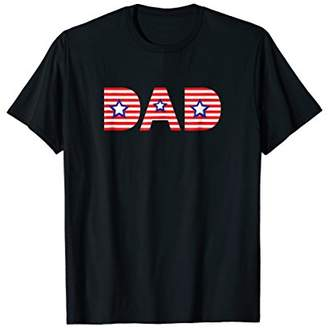 American Stars and Stripes Patriotic Dad Graphic T-Shirt