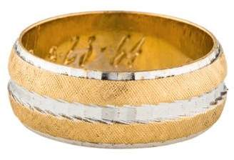 Ring 14K Two-Tone Textured Wedding Band