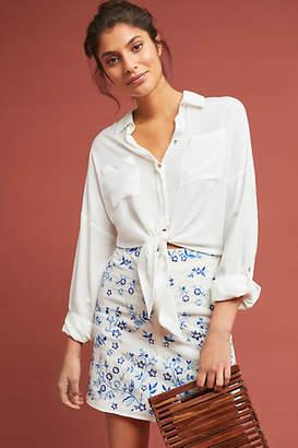 Ranna Gill Corday Embroidered Mini Skirt