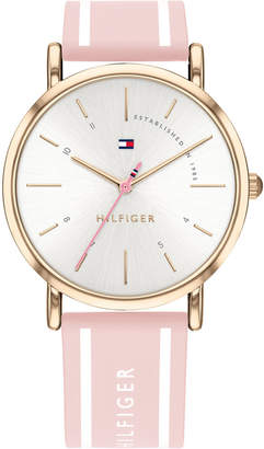 Tommy Hilfiger Women Pink Silcone Strap Watch 35mm