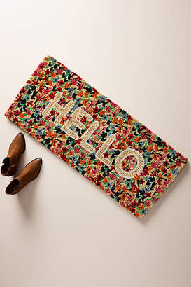 Anthropologie Floral Greeting Estate-Sized Doormat