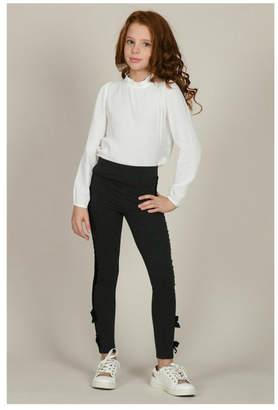 Mini Molly Knit Leggings W/bow