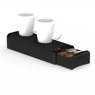 Nespresso Mind Reader Coffee Pod Storage Drawer for K-Cups, Verismo, Dolce Gusto, Holds 12 K-Cups, 16 Capsules, 14 CBTL, Verismo, Dolce Gusto, Black