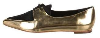 Loeffler Randall Metallic Ponyhair Oxfords