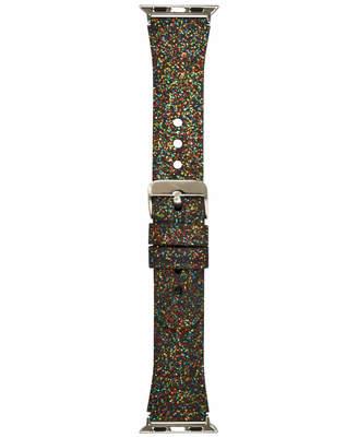 INC International Concepts I.n.c. Women's Rainbow Glitter Silicone Apple Watch Strap