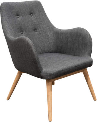 Ash Harper & Hindley Graphite Grey Delo Wood Lounge Chair