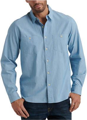Lucky Brand Men Regular-Fit Stretch Chambray Work Shirt