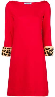Blumarine leopard print cuff dress