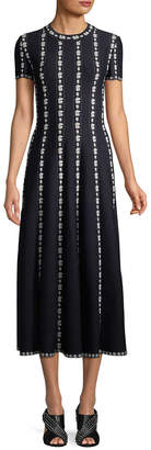 Alaia Embroidery Midi Dress