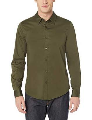 GUESS Men's Long Sleeve Luxe Stretch Shirt