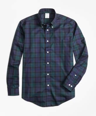 Brooks Brothers Non-Iron Regent Fit Black Watch Sport Shirt