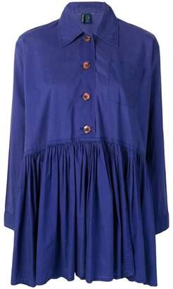 Romeo Gigli Pre-Owned flared pleated dress