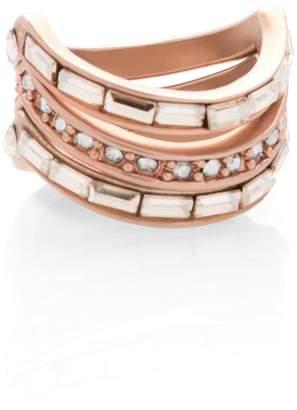 St. John Swarovski Crystal Twisting 2 Ring Set 3Zfh4
