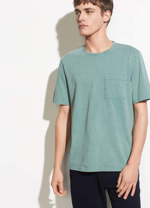 Garment Dye Single Pocket Short Sleeve Crew