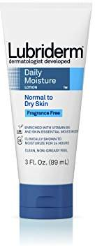 Lubriderm Daily Moisture Hydrating Unscented Body Lotion with Vitamin B5 for Normal to Dry Skin
