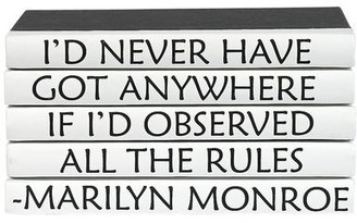 Four Volume Marilyn Monroe Quote Set of Decorative Books