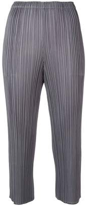 Pleats Please Issey Miyake plissé cropped trousers