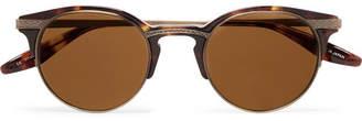 Barton Perreira Roux Round-Frame Tortoiseshell Acetate and Gold-Tone Titanium Sunglasses - Men - Tortoiseshell