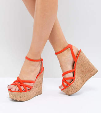 607d335a325 Asos Design DESIGN Tulita Wide Fit High Wedges