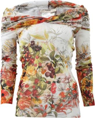 FUZZI Floral Cowl Neck Print Top $345 thestylecure.com