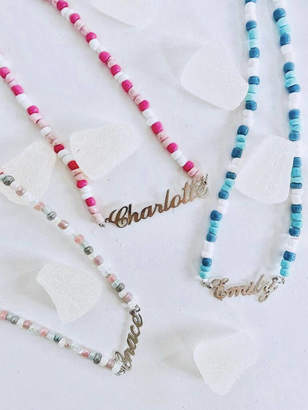 Anna Lou of London Childrens Beaded Name Necklace