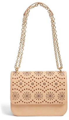 Chelsea28 Dahlia Perforated Faux Leather Shoulder Bag - Brown $69 thestylecure.com